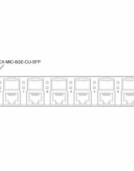 Juniper Networks - ACX-MIC-6GE-CU-SFP
